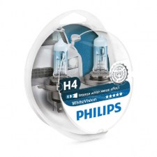 Λάμπα Philips White Vision H4 Set 12V 60/55W