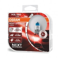 Λάμπα Osram H3 2ΤΜΧ 12V 55W Night Breaker Laser +150%